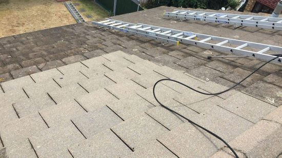 roofing restoration being carried out