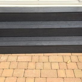 decking steps that have been painted