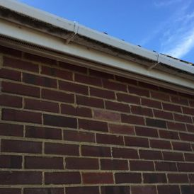 Dirty guttering that our team has been tasked to clean