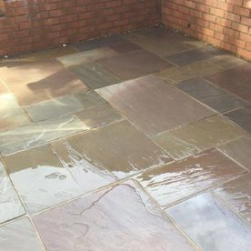 A clean patio