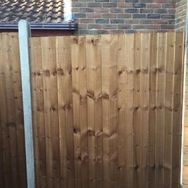 Fencing that has been installed by our team
